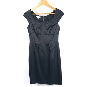 LONDON TIMES Women's Black Sheath Dress 1213